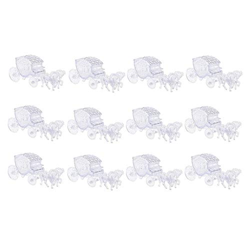 12pcs Gift Boxes Plastic Horse Carriage Candy Box Baby Shower Kids Birthday Party Gifts