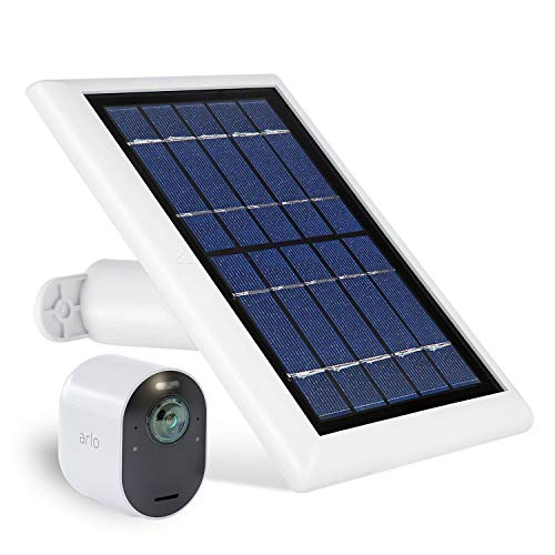 Solar Panel compatible with Arlo Ultra - Power your Arlo surveillance camera continuously (White) (Not Compatible with Arlo Pro)