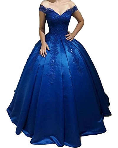 Bodice Satin Corset - Jdress Women's Lace Party Gowns Corset Bodice Off The Shoulder Ball Gown Quinceanera Dress