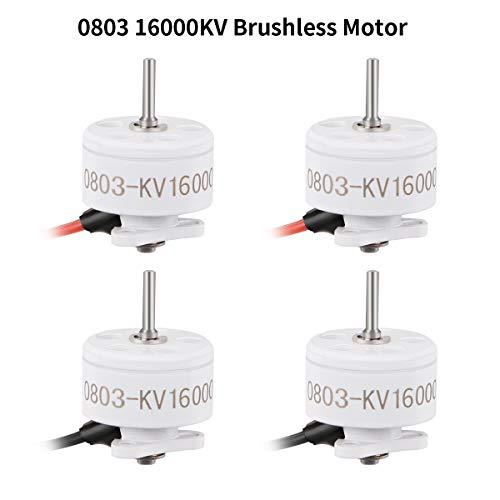 4pcs 0803 16000KV Brushless Motors 1-2S SE0803 Micro Drone Motor for 65mm-85mm Brushless Whoop Like Mobula7 Snapper7 Micro FPV Racing Drone