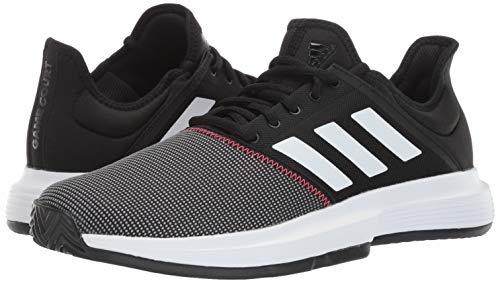 adidas Men's Gamecourt, Black/White/Shock red, 6.5 M US by adidas (Image #5)