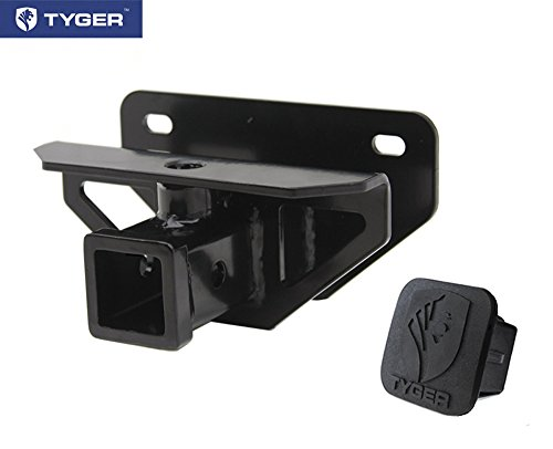 TYGER Class 3 Hitch & Cover Kit Fits 2003-2018 Dodge Ram 1500 & 2003-2013 Ram 2500/3500 OE Style 2 inch Rear Receiver Hitch Tow Towing Trailer Hitch Combo Kit (Hitch Cover included.)