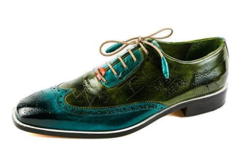 Verde Uomo amp; Hamilton Stringate Scarpe 1256 Verde MH15 Melvin gqUw700