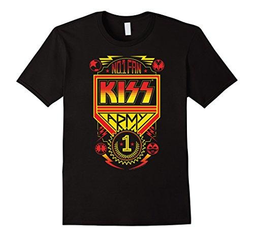 Mens KISS - #1 Fan T-Shirt 3XL Black