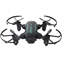 1601HW Quadcopter Drone, Sacow Mini Wifi FPV 0.3MP Camera Foldable 2.4G 6-Axis Selfie Quadcopter Drone Toys (Black)