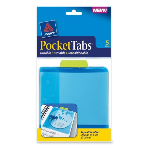 Avery PocketTabs 5 125 Inches 16362