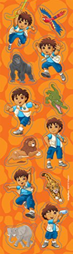 Diego's Biggest Rescue Sticker | Party Favor | Pack of 8 ()