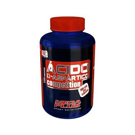 Ácido D-Aspártico 120 comprimidos de Mega Plus: Amazon.es: Salud y cuidado personal