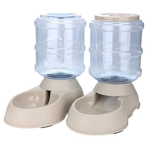 Pet Feeder, 3.75L Automatic Pets Feeder Food Water Dispenser Machine Detachable Feeding Watering Supplies for Cats Dogs Puppy