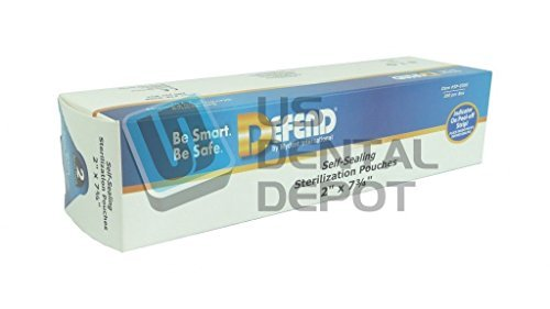 DEFEND - Sterilization Self Sealing Pouches 2.0 x 7.75 200 113617 Us Depot