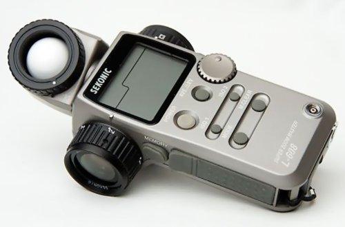 Sekonic L-608 Super Zoom Master Digital Incident, Spot and Flash Light - Radio Receiver Pocket Wizard Transmitter