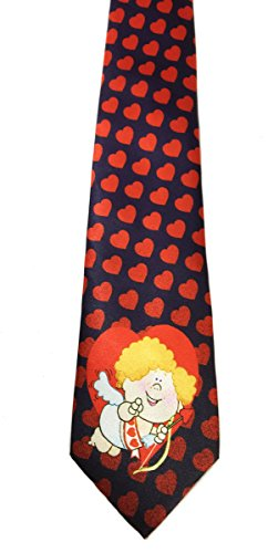 Stonehouse Collection Men's Valentine's Day Tie - Fun Heart Pattern Necktie from Stonehouse Collection