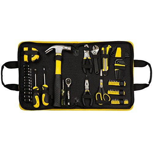 E3L 69 pcs Mechanics Tool Set Homeowner Tool Kit General Tool Kit 1/4