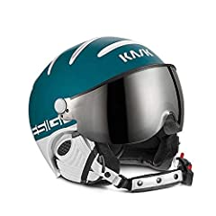 Matte frames, pairing with the new design on the back and in contrast with the shiny shell in different colors. Eco-leather in white or White for the earflaps and chin-strap. The visor (Silver mirror color) has a double lens with OTG fitting ...