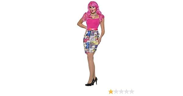 Pop Art Comic Book Pencil Skirt Women Adult Costume