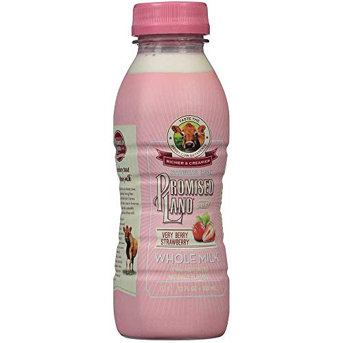 Promised Land Very Berry Strawberry Whole Milk, 12 Fluid Ounce - 9 per case. ()