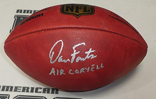 Dan Fouts Autographed Signed Official Chargers Football Signature - Beckett Authentic Air Coryell Game Ball