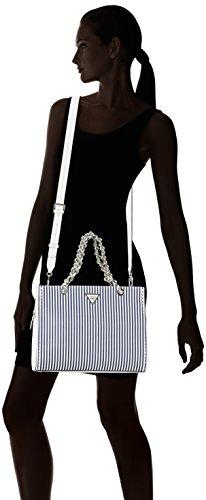 GUESS Bags Hobo, Bolsos bandolera Mujer, Varios colores (Blue Stripe), 14.5x25x33.5 cm (W x H L) Varios Colores (Blue Stripe)