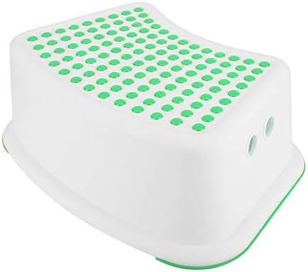 浴室ステップスツール、PP防水滑り止め表面負荷90キログラムトイレエイドステップフットラダーポータブルユニバーサルスツール、丈夫で長持ち子供用妊娠中の女性(緑)