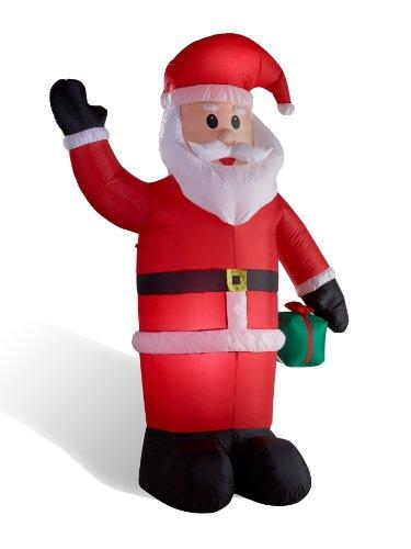 Weihnachtsmann figur aufblasbar beleuchtet 240 cm groß für innen außen von Gartenpirat®