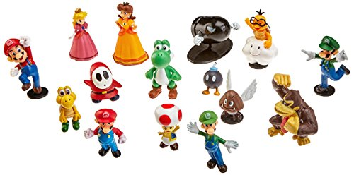 Generic Super Mario Brothers PVC Characters Figures (Set of 18), 2""