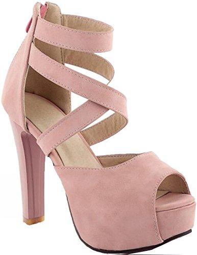 Laruise Women's Platform Sandal Pink cWHEitiQRn