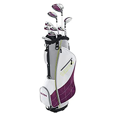 Wilson Ultra Ladies Right-Handed Super Long Golf Club Set with Cart Bag (WGGC43400)