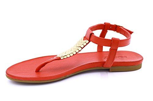 Inuovo - Sandalias para mujer Rojo