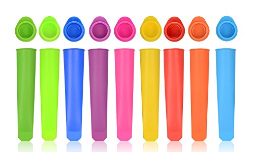 Silicone Popsicle Mold, Food Grade, Pure, Non-toxic, Set Of 10 Tubes reusable ()