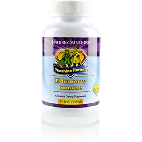 Elderberry Defense - Nature's Sunshine Sunshine Heroes Elderberry Immune 90 Soft Chews Each (Pack of 2)