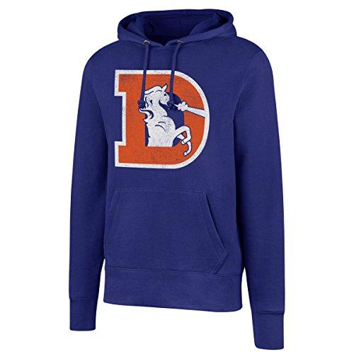 NFL Denver Broncos Men's Legacy OTS Fleece Distressed Hoody, Large, Royal (Polo Broncos Denver)