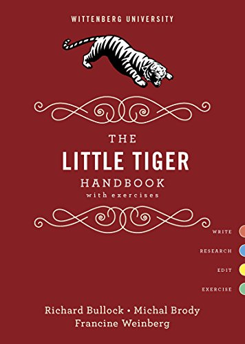 (The Little Tiger Handbook with Exercises, Wittenberg University)