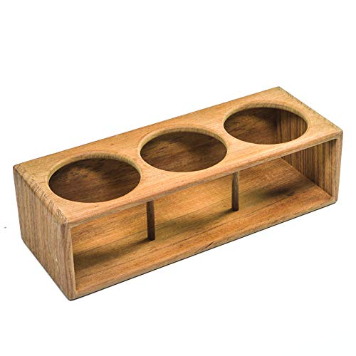 Whitecap 62624 Teak Three Insulated Drink/Bottle Rack ()