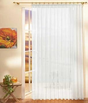 Amazonde Gardinen Store Voile Mit Kräuselband 250x300 Weiß 610001