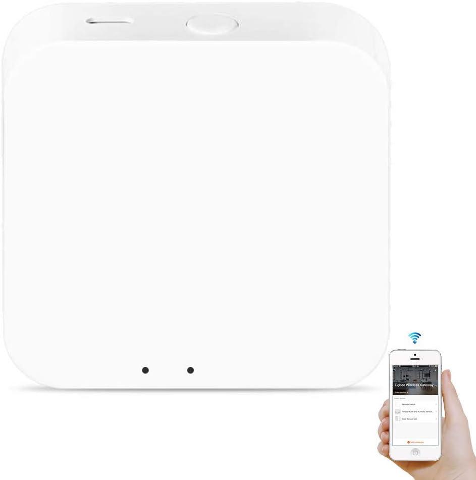 zemismart Tuya Zigbee Hub,Mini Gateway,Make Tuya Zigbee Smart Devices Work with Alexa Echo/Google,Tuya Zigbee Home Smart Controller(Tuya Zigbee Hub)
