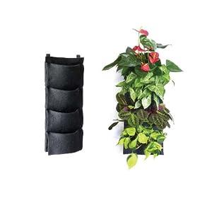 Beautiful Florafelt 4 Pocket Vertical Garden Planter