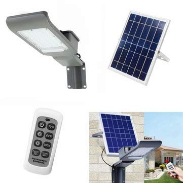 30W Waterproof 30 LED Solar with Wall Suction Light/Remote Control Street for Outdoor - Outdoor Lighting LED Street Lights - (White) - 1 x Spot light head 1 x Solar panel 1 x Instructions 1 x ()