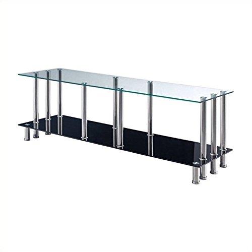 (Global Furniture TV Stand, Clear/Black)