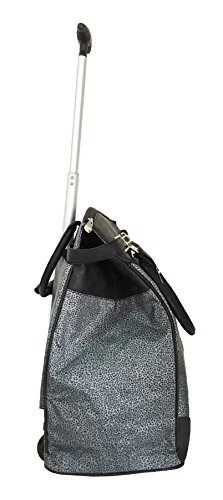 Trendy Flyer Computer/Laptop Rolling Bag 2 Wheel Case Cheetah Gray