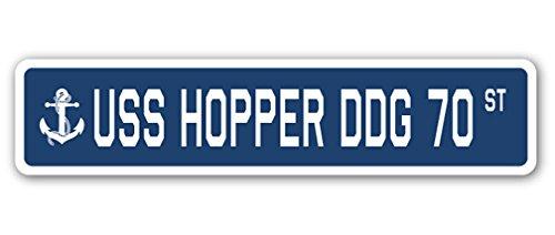 (USS Hopper DDG 70 Street [3 Pack] of Vinyl Decal Stickers   1.5