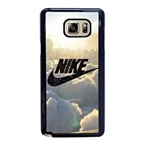 Wunatin Hard Case ,Samsung Galaxy Note 5 Cell Phone Case Black Nike logo In the clouds [with Free Tempered Glass Screen Protector] BA-9892568