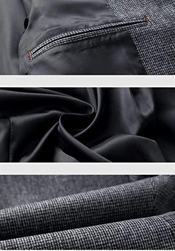 Huixin Fondono Maschile Lungo Giacche Cappotto Invernali Autunno Risvolto Marinaio Marinaio Pisello Manica Lana Giacca Slim Grau Fit Abbigliamento cCw0fwYq
