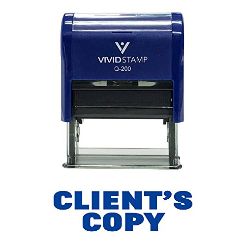 CLIENTS COPY Self-Inking Office Rubber Stamp (Blue) - Medium