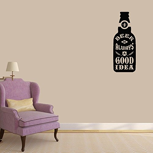 Marydecals Wall Stickers Quotes Vinyl Art Room Mural Posters Beer is Always A Good Idea for Living Room]()