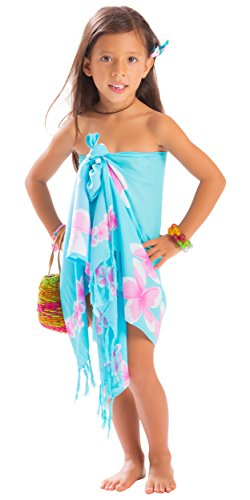 1 World Sarongs Girls Plumeria Half Sarong