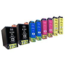 8 Pack - Remanufactured Ink Cartridges for Epson #252XL T252XL 252 T252XL120 T252XL220 T252XL320 T252XL420 Inkjet Cartridge Compatible With Epson WorkForce WF-3620 WorkForce WF-3640 WorkForce WF-7110 WorkForce WF-7610 WorkForce WF-7620 (2 Black, 2 Cyan, 2 Magenta, 2 Yellow) Ink & Toner 4 You ®