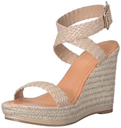 Madden Girl Women's NARLA Espadrille Wedge Sandal, Natural Paris, 6 M US