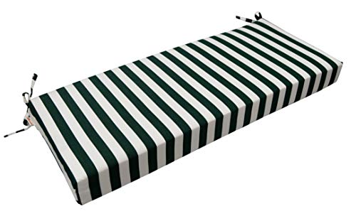RSH Décor Indoor/Outdoor Bench Cushion Made from Premium Sunbrella Mason Forest Green Fabric - 2