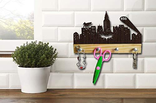 Batman Baby Shower Ideas (Wood Hanger Batman Superhero Home Decorations Baby Shower Nursery Gifts for Men Women Kids Boys Girls Merchandise Vinyl Arkham City dc Comics Stuff Costume mask Cosplay Birthday Justice League)