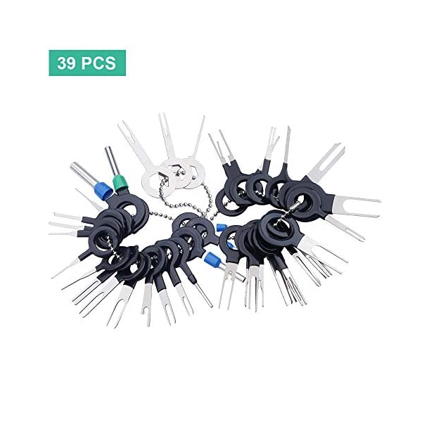 Terminal Removal Tool Kit 39Pcs for Car Connector and Other Household Devices, Wire Connector Terminal Pin Extractors
